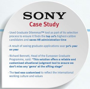 Situational Judgement Test Case Study - Sony (Graduate Dilemmas™)
