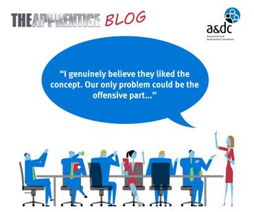 Apprentice blog episode 4