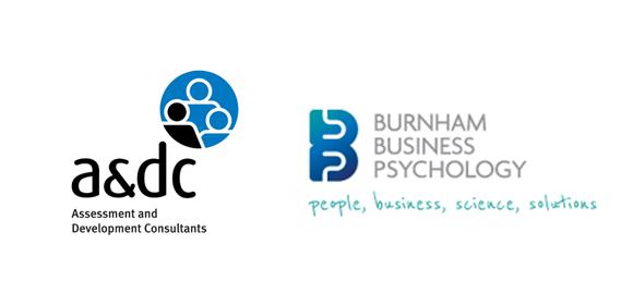 a&dc and BPP (Burnham Business Psychology) logos